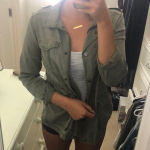 Nordstrom Army Green Jacket